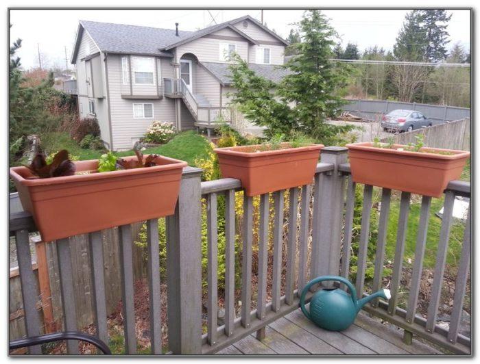 Deck Railing Flower Boxes Plans