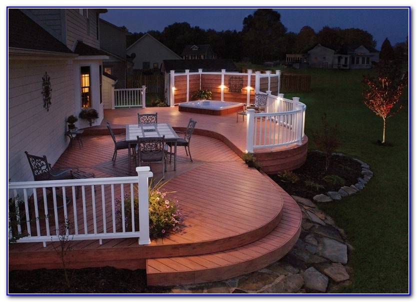 Deck Railing Lights Ideas