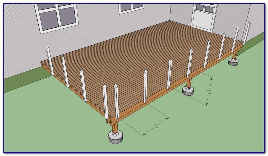 Deck Railing Post Installation
