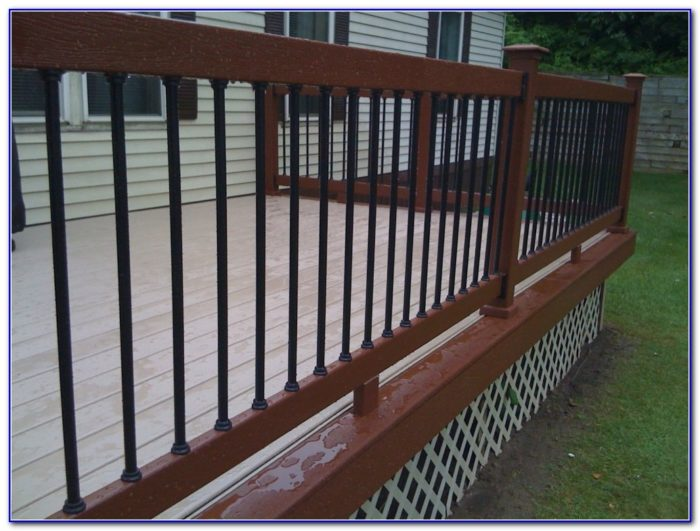 Deck Railing With Aluminum Balusters