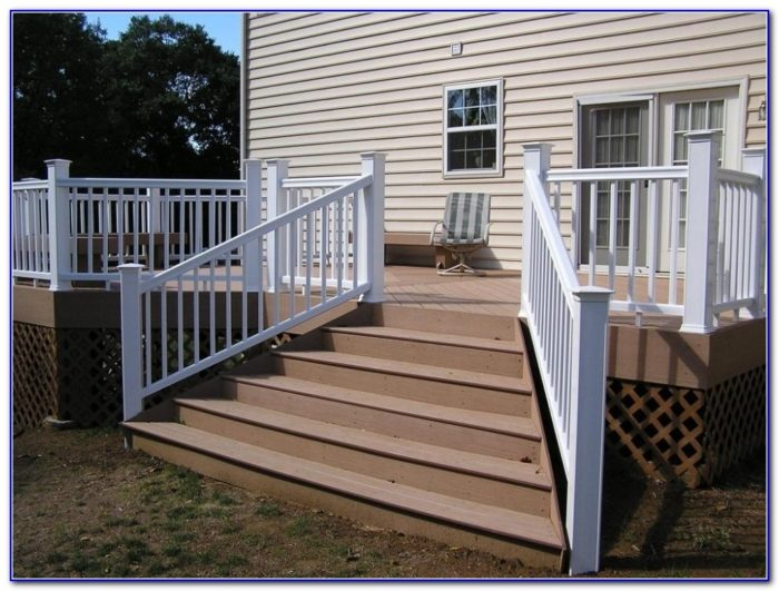 Deck Stair Handrail Designs