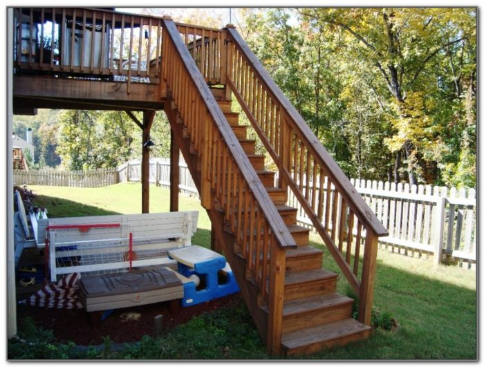 Deck Stair Railing Design Ideas