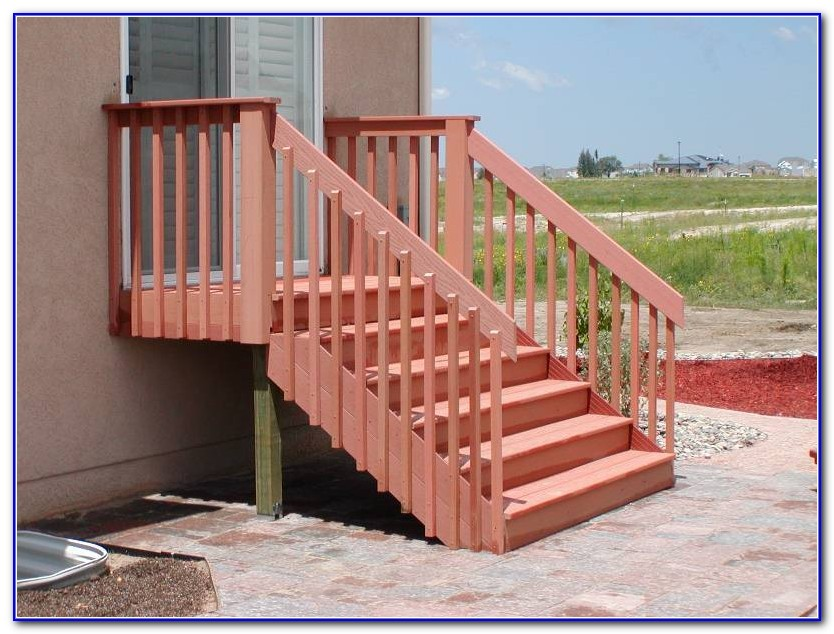 Deck Stairs Railing Ideas