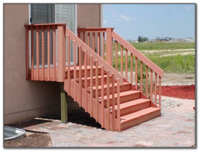 Deck Step Railing Designs