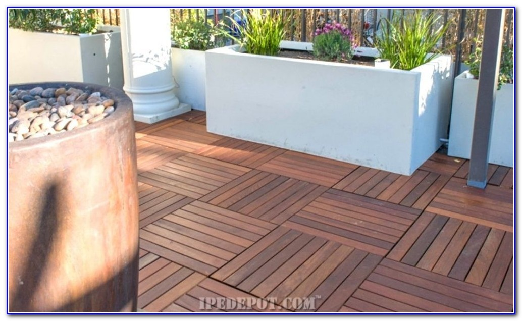 Deck Tiles Over Concrete Patio