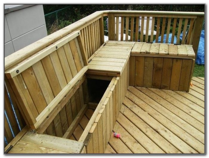 Deck Wood Bench Seat Plans