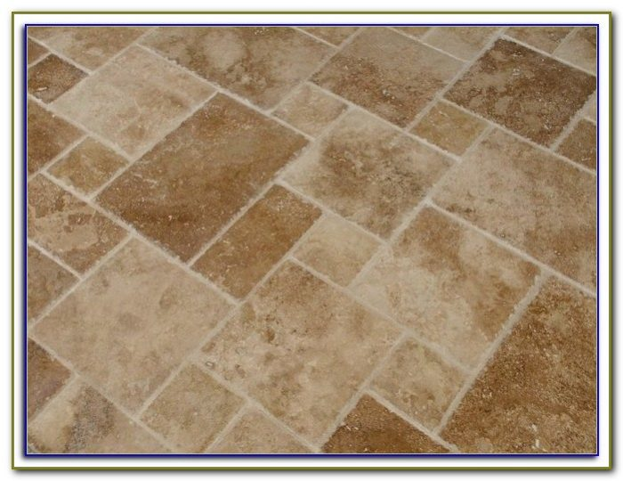 French Pattern Travertine Tile Layout