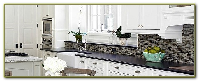 Glass Tile Backsplash Ideas White Cabinets
