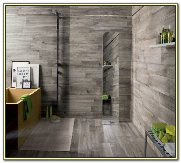 Gray Wood Grain Ceramic Tile