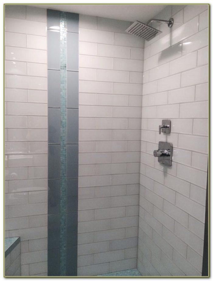 Grey Glass Subway Tile Herringbone