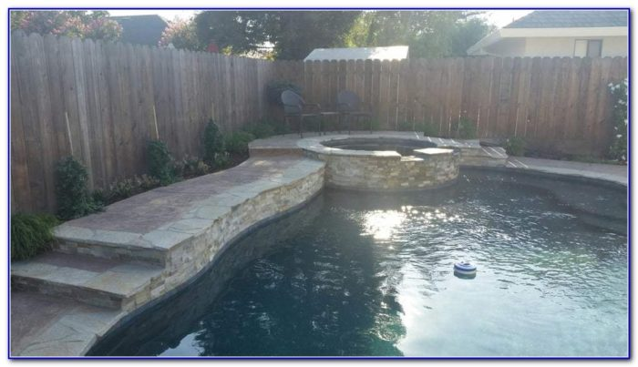 Grey Stamped Concrete Pool Deck