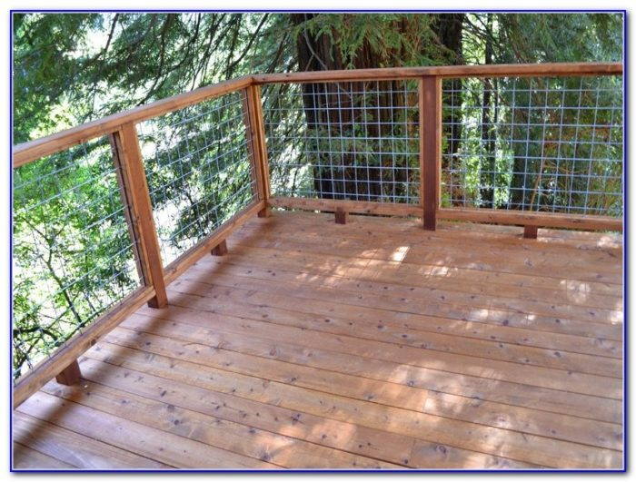 Horizontal Deck Railing Systems