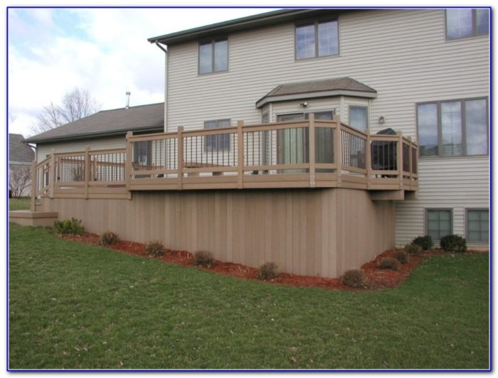 Horizontal Deck Skirting Ideas
