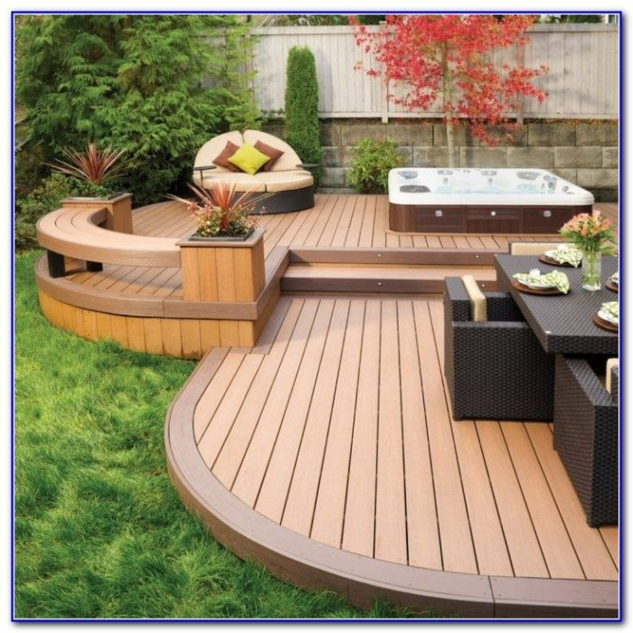 Hot Tub Decks Outdoor