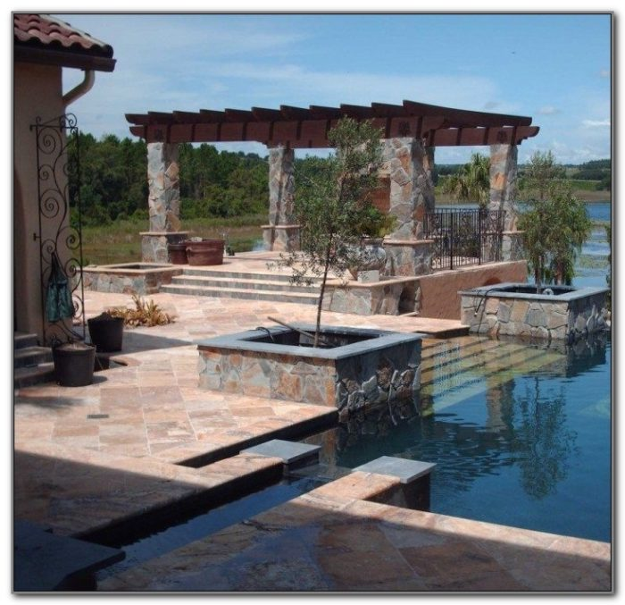 In Ground Swimming Pool Deck Designs