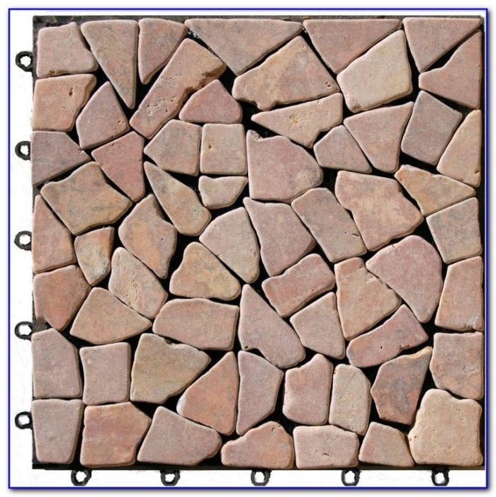 Interlocking Deck Tiles Stone