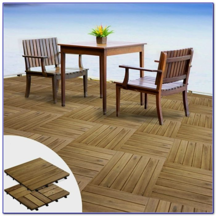 Interlocking Polywood Deck Patio Tiles