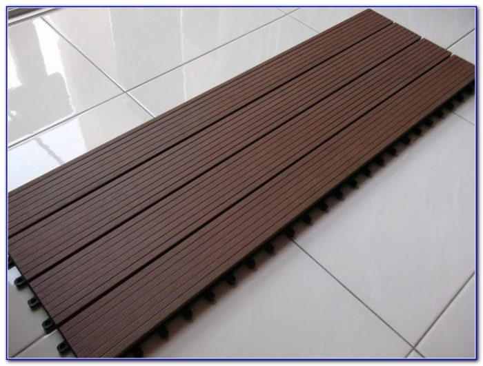 Interlocking Wood Deck Tiles
