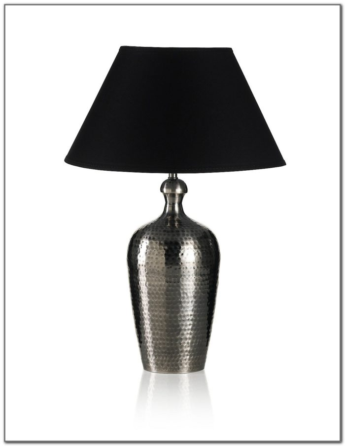 Large Hammered Metal Table Lamp