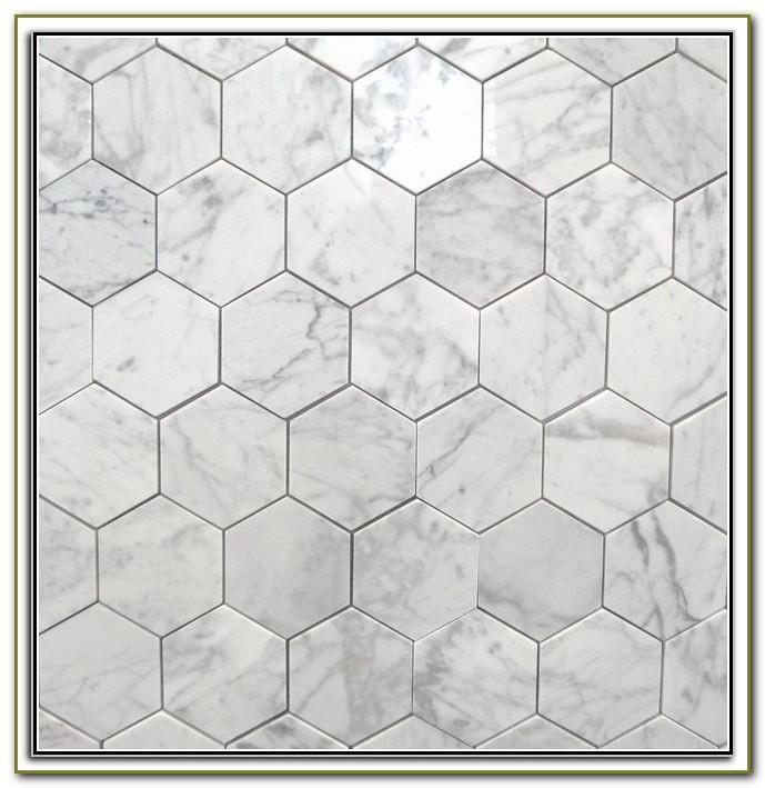 Marble Hexagon Floor Tile Home Depot