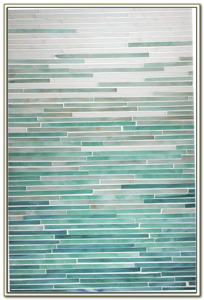 Misty Sea Glass Backsplash Tile