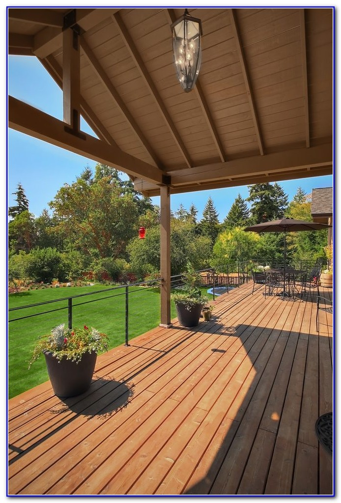 Modern Covered Deck Designs