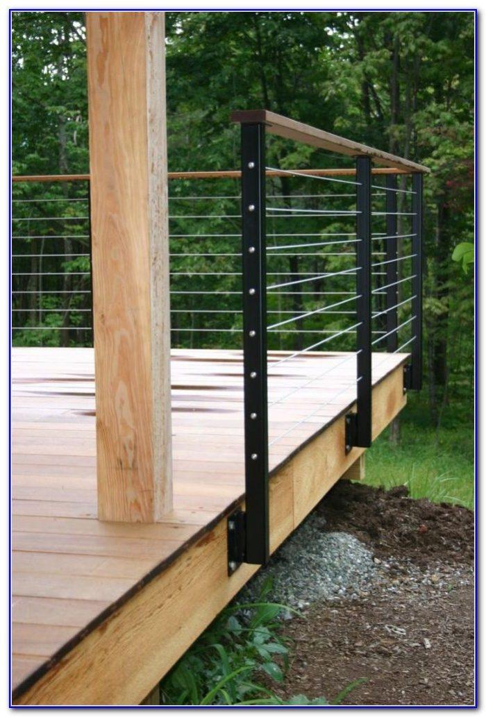 Modern Wood Deck Railing