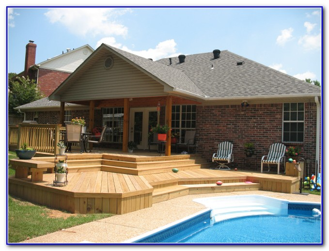 Multi Level Above Ground Pool Deck Plans