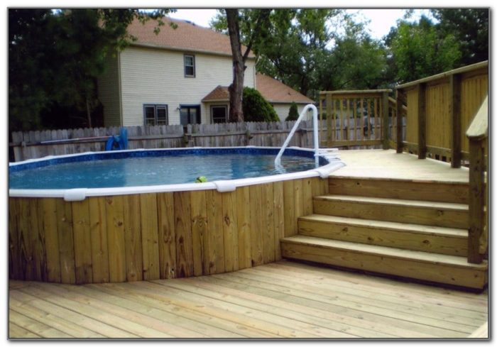 Nice Above Ground Pool With Deck