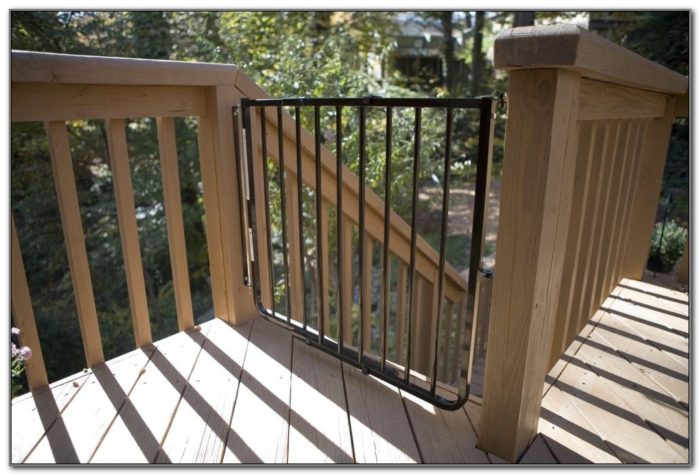 Outdoor Baby Gate For Deck