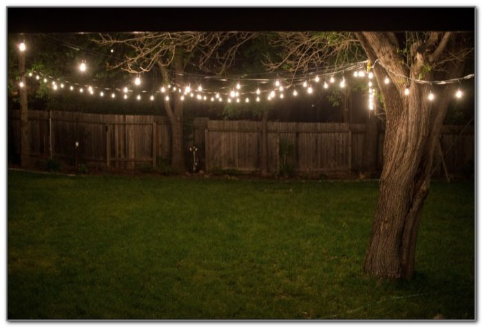 Outdoor Backyard String Lights
