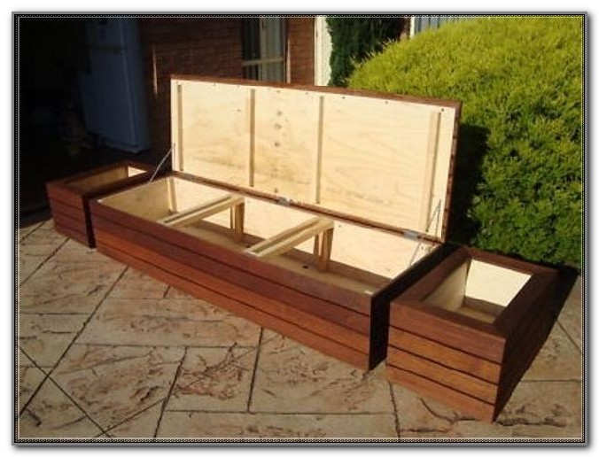Outdoor Deck Storage Bench Plans