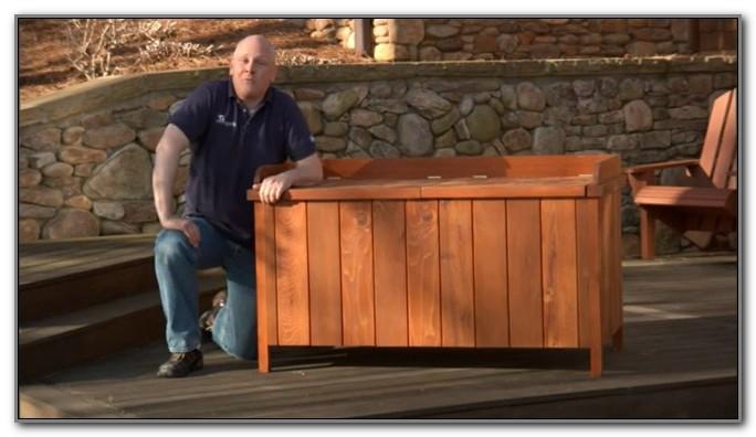 Outdoor Deck Storage Box Plans
