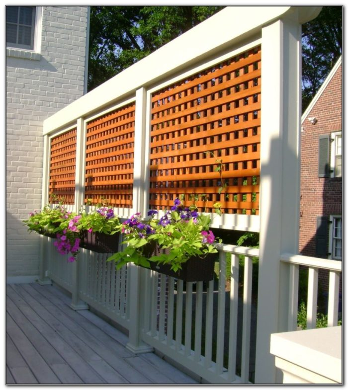 Outdoor Privacy Screen For Decks