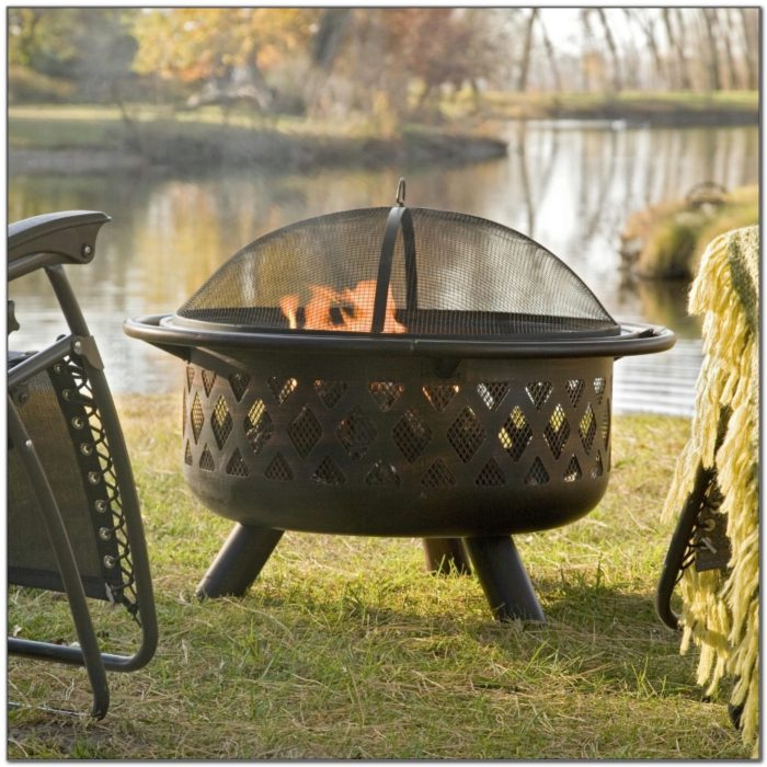 Patio Fire Pit On Wood Deck