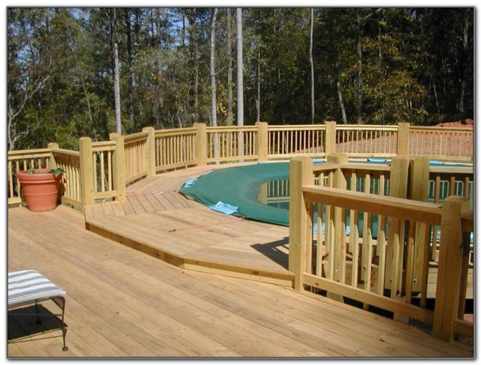 Pool Deck Plans For Above Ground Pools