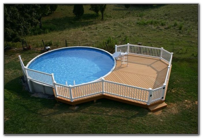 Pool Wood Decks Above Ground