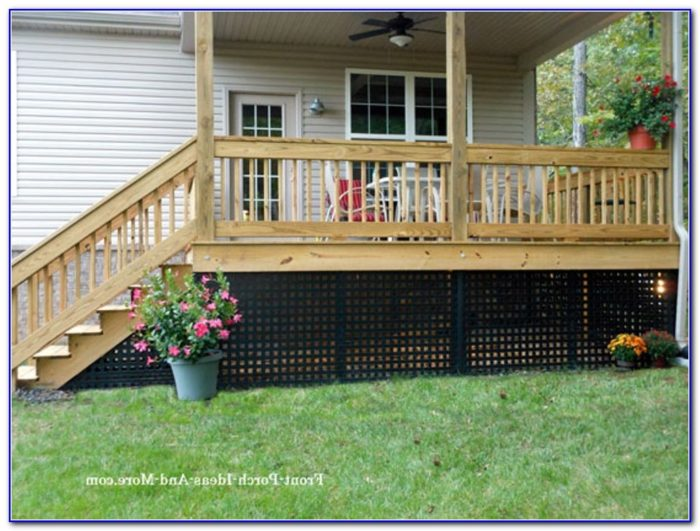 Raised Deck Skirting Ideas