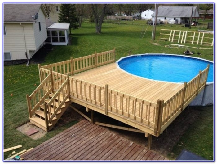 Round Above Ground Pool Deck Plans