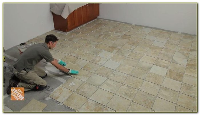 Self Stick Floor Tiles At Home Depot