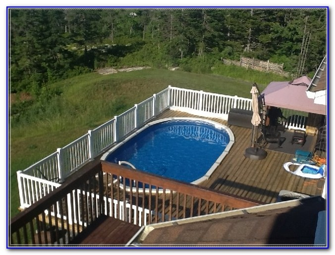Simple Above Ground Pool Deck Plans
