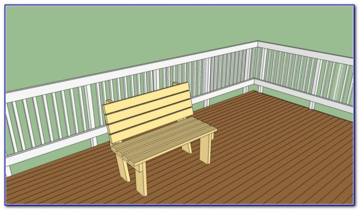 Simple Deck Bench Plans