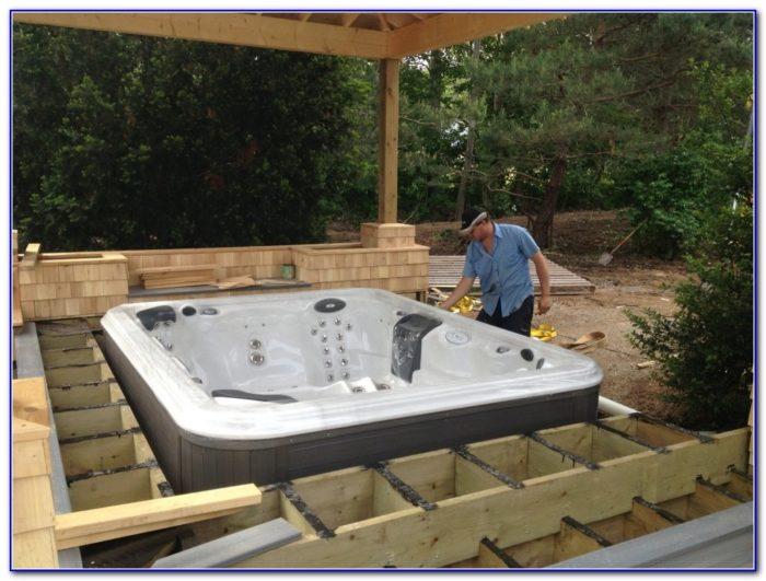 Simple Hot Tub Decks