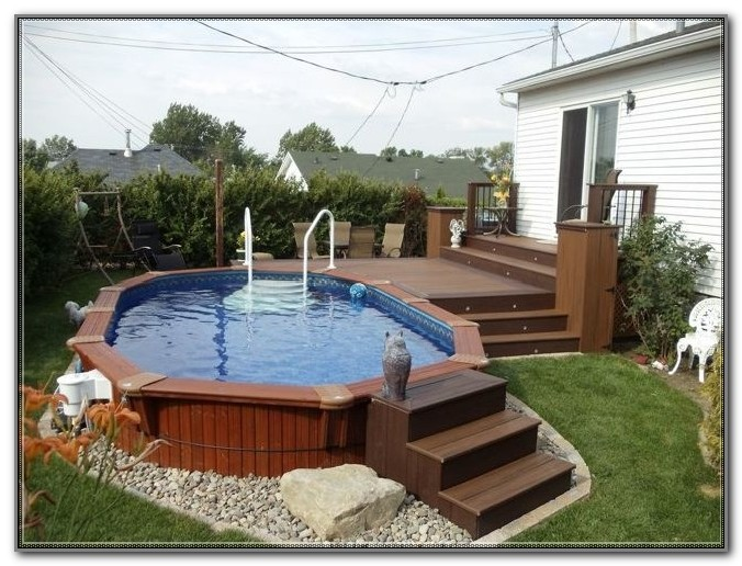 Small Above Ground Pool Deck Designs
