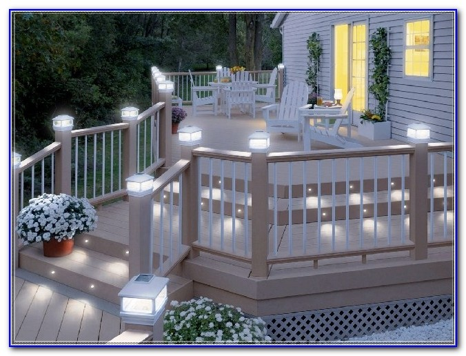 Solar Deck Rail Lights