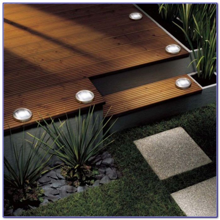 Solar Powered Deck Stair Lights
