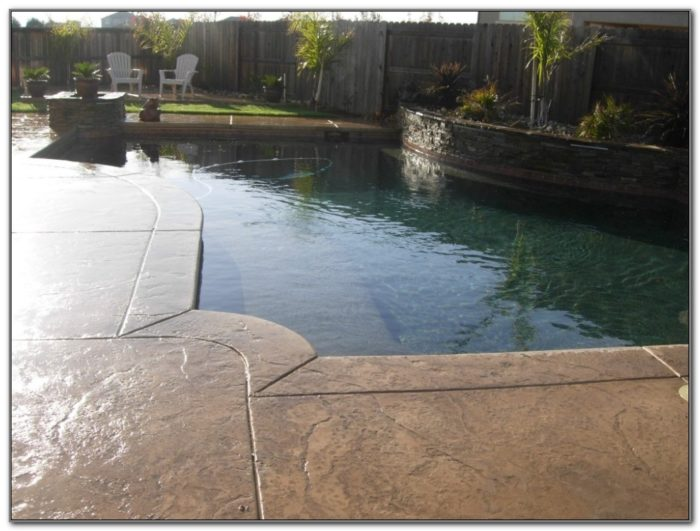 Stamped Concrete Pool Deck Ideas