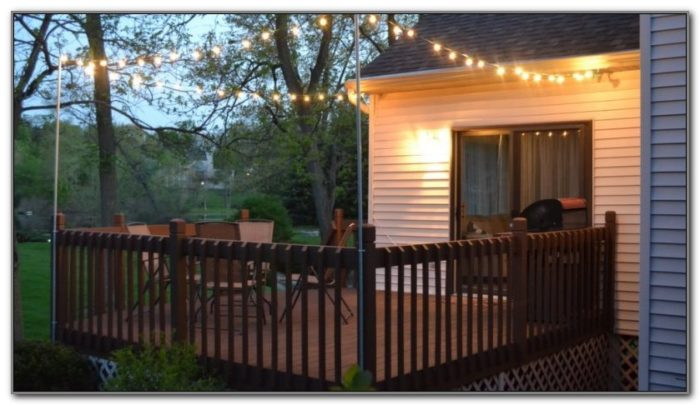 String Lights Over Deck