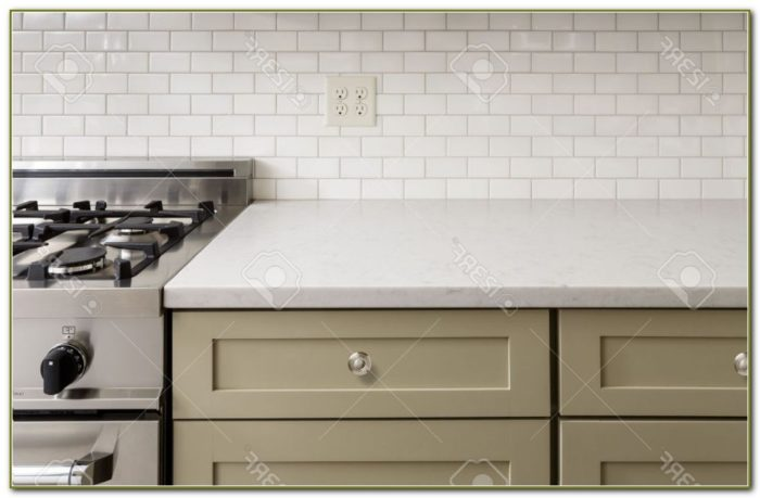 Subway Tile Backsplash Kitchen Dark Grout