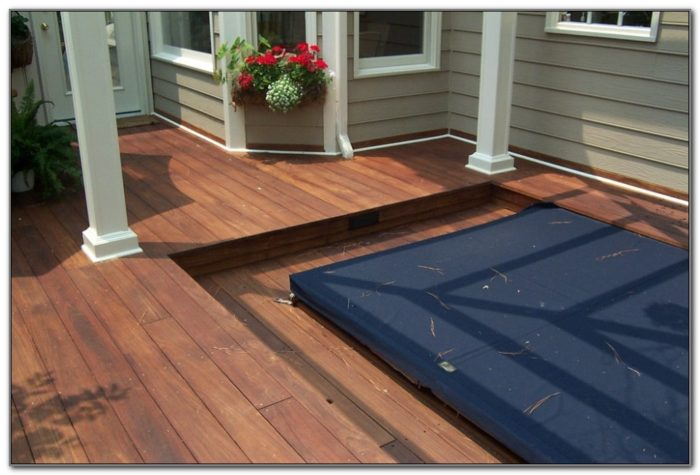 Sunken Hot Tub Deck Design